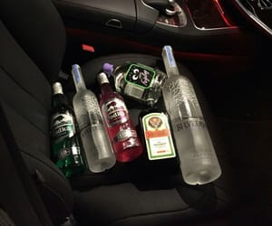 alcohol, car, and aesthetic image