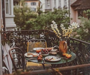 balcony, food, and summer image