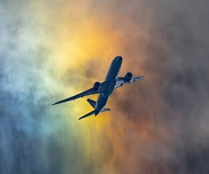 airplane, cloud, and colorful image