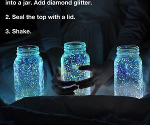 cool, fireflies, and glitter image