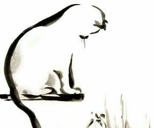 art, background, and cat image