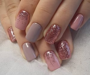 nails, beauty, and rose gold image