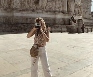 camera, city, and girl image