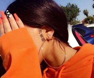 nails, tattoo, and orange image