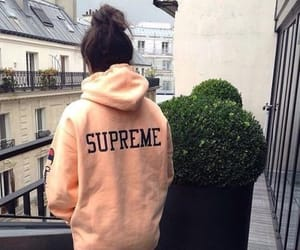 girl, supreme, and clothes image