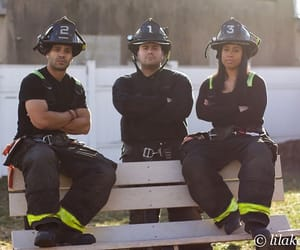 black, firefighters, and girl image