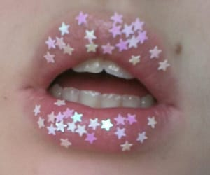 lips, stars, and pink image