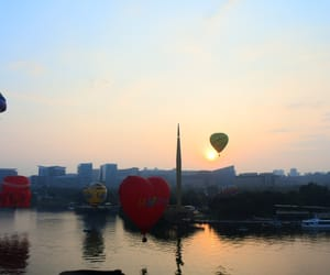 adventure, hot air balloon, and Malaysia image