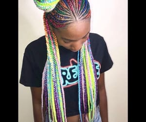 colorful, hair, and style image