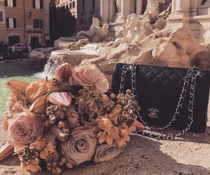 flowers, bag, and chanel image