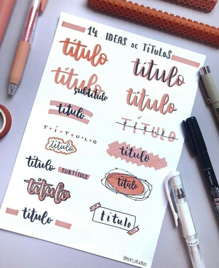 Image About School In Bullet Journal Fontes E Desenhos By Midian
