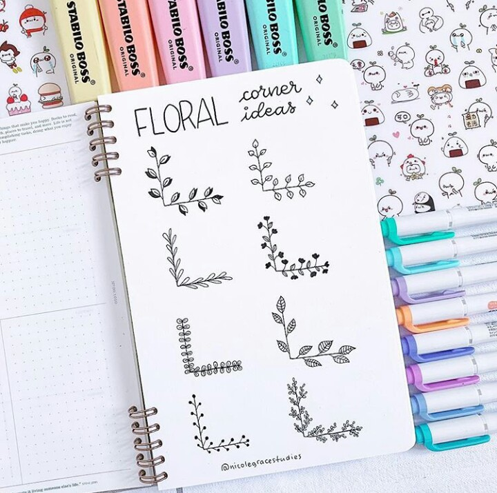 Image In Bullet Journal Fontes E Desenhos Collection By Midian