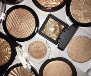 highlighter, cosmetics, and gold image