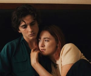 timothee chalamet, lady bird, and Saoirse Ronan image