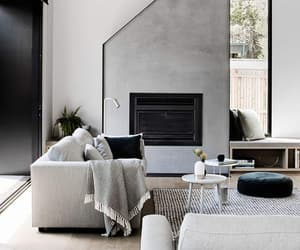 chairs, fireplace, and home image