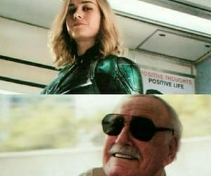 captain marvel, stan lee, and Marvel image