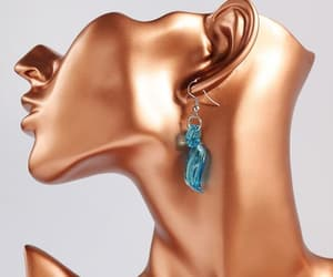 etsy, dangle earrings, and murano earrings image