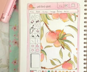 drawing, pink, and peachy image