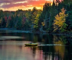 nature, lake, and landscape image