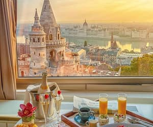 breakfast, budapest, and city image