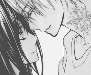 anime, in love, and black and white image