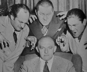 three stooges, the three stooges, and moe larry and curly image