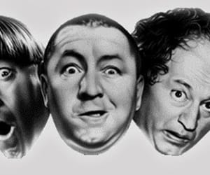 the three stooges, three stooges, and moe larry and curly image