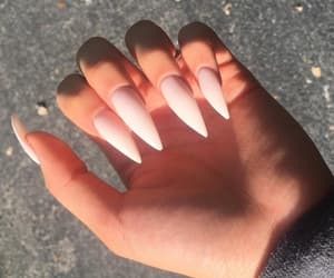girls, nails, and sun image