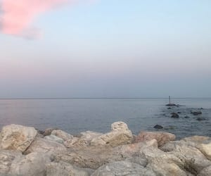 evening, spain, and seaview image