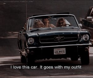 car, girl, and quote image