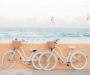 summer, bike, and beach image