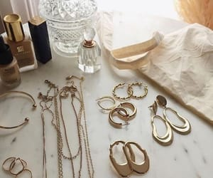 gold, jewelry, and makeup image