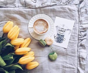 coffee, tulips, and coffee break image