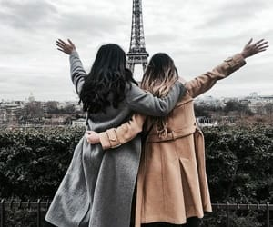 best friends, girls, and paris image