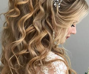 hairstyle, wedding, and cute image