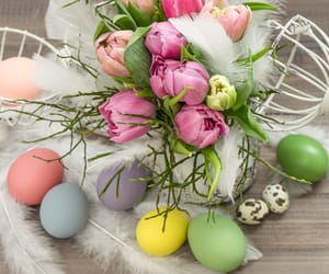 bouqet, decoration, and easter image