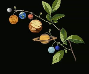 planets, space, and art image