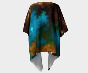 high end fashion, turquoise, and jackets and cover up image