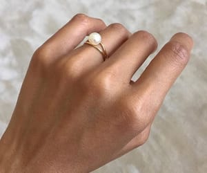 ring, jewelry, and pearls image