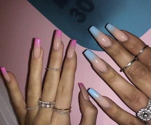 blue, pink, and kylie jenner image
