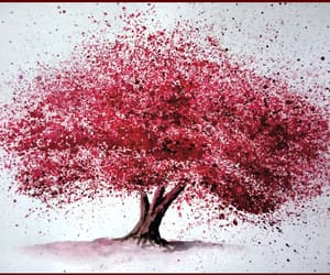art, pink, and red image
