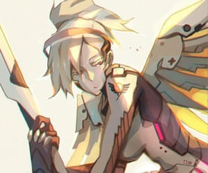 videogame, mercy, and overwatch image