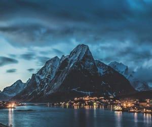 mountains, light, and beautiful image