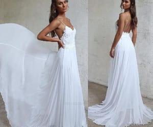 wedding dress, wedding dress lace, and wedding dress chiffon image