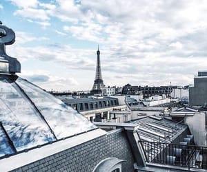 blue, paris, and city image