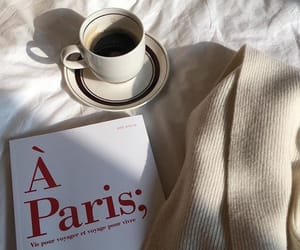 coffee, book, and paris image