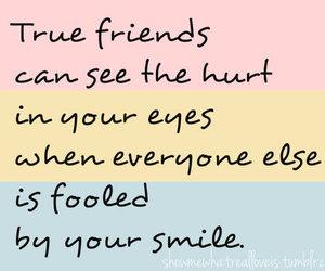eyes, hurt, and smile image