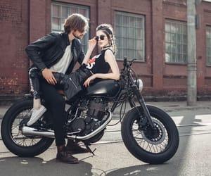 bike, bikers, and braids image