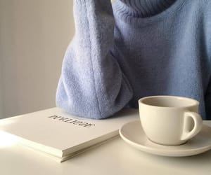 blue, aesthetic, and coffee image