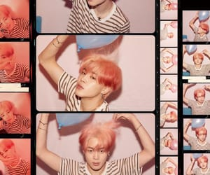 coral, hair, and bts image
